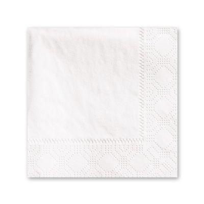 Hoffmaster 180330 Paper Beverage Napkins, 2 Ply, 1/4 Fold, White - 3000 / Case