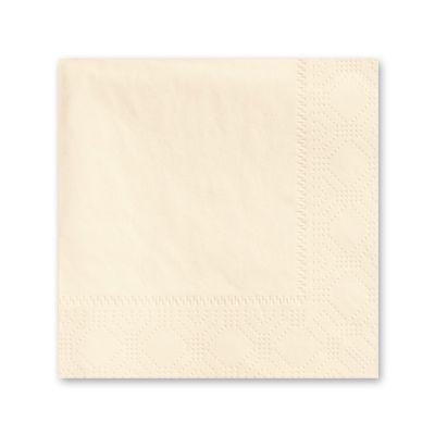 Hoffmaster 180317 Decorator Paper Beverage Napkins, 2 Ply, 1/4 Fold, Ecru - 1000 / Case