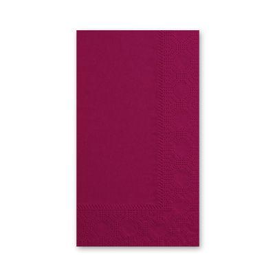 Hoffmaster 180524 Decorator Paper Dinner Napkins, 2 Ply, 1/8 Fold, Burgundy - 1000 / Case