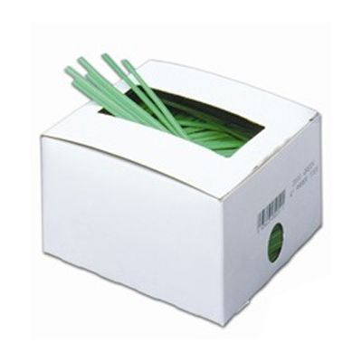 "Bedford Industries 4"" Green Paper / Wire Twist Ties - 50000 / Case"