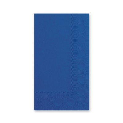 Hoffmaster 180522 Decorator Paper Dinner Napkins, 1/8 Fold, 2 Ply, Navy - 1000 / Case