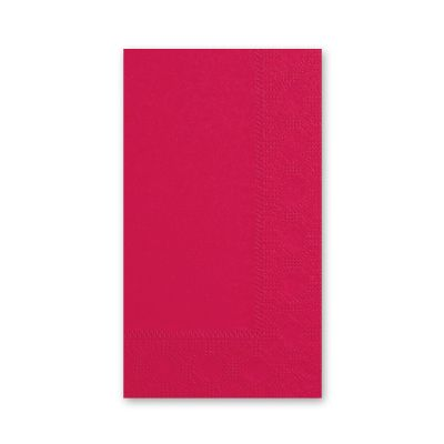 Hoffmaster 180511 Decorator Paper Dinner Napkins, 2 Ply, 1/8 Fold, Red - 1000 / Case