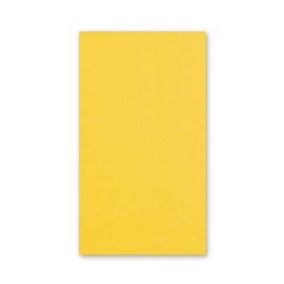 Hoffmaster 180540 Decorator Paper Dinner Napkins, 2 Ply, 1/8 Fold, Sun Yellow - 1000 / Case