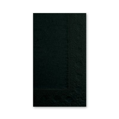 Hoffmaster 180513 Decorator Paper Dinner Napkins, 2 Ply, 1/8 Fold, Black - 1000 / Case