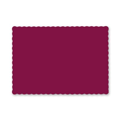 "Hoffmaster 310524 Paper Placemats, Scalloped Edge, 9.5"" x 13.5"", Burgundy - 1000 / Case"