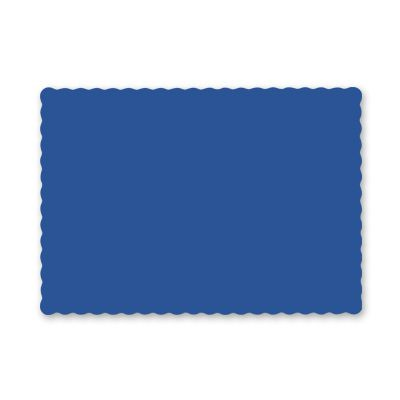 "Hoffmaster 310523 Paper Placemats, Scalloped Edge, 9.5"" x 13.5"", Navy Blue - 1000 / Case"