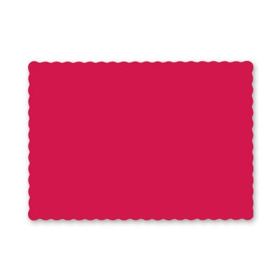 "Hoffmaster 310521 Paper Placemats, Scalloped Edge, 9.5"" x 13.5"", Red - 1000 / Case"