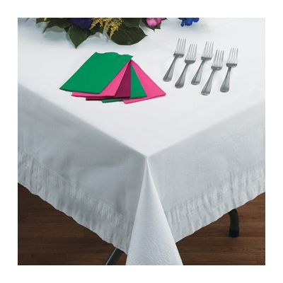 """Hoffmaster 210046 Cellutex Tablecloths, 54"""" Square, White - 50 / Case"""