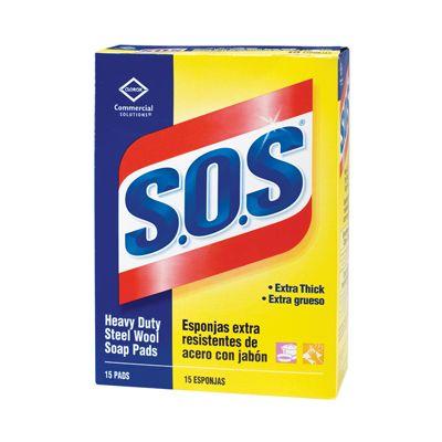 Clorox 88320 S.O.S Steel Wool Soap Pads - 180 / Case