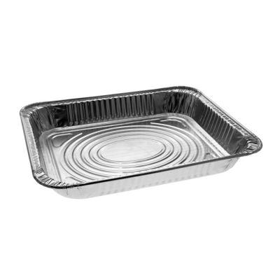 """Pactiv Y6012XH Half Size Aluminum Foil Steam Table Pans, Shallow, 12-3/4"""" x 10-3/8"""" x 1-11/16"""", 79.5 oz - 100 / Case"""