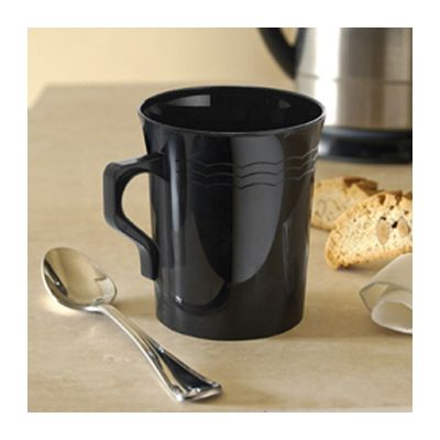 EMI Yoshi REM8BK Resposables 8 oz Plastic Coffee Mugs, Black - 192 / Case
