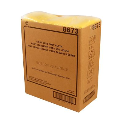 "Chicopee 8673 Chix Masslinn Dust Cloths, Light Duty, 22"" x 24"" Yellow - 150 / Case"
