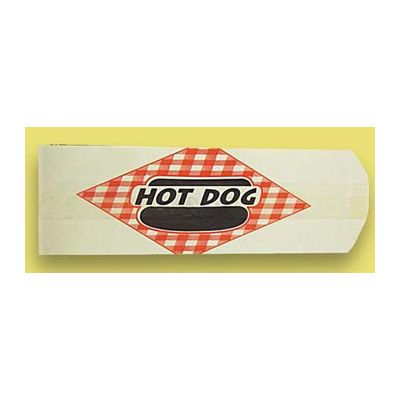 "Fischer Paper 703-6A Hot Dog Bags, 3"" x 2"" x 8.75"" - 2000 / Case"
