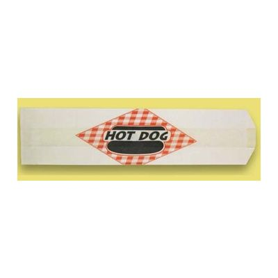 "Fischer Paper 705 Hot Dog Bags, 3"" x 2"" x 12"" - 2000 / Case"