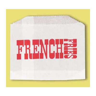 "Fischer Paper 601-FF3 Small French Fry Bags, 4.5"" x 3.5"" - 2000 / Case"