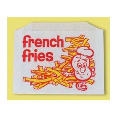 "Fischer Paper 605-FF5 Large French Fry Bags, 5.5"" x 1"" x 4"" - 2000 / Case"