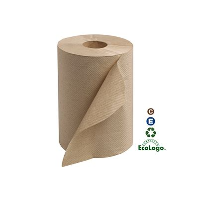 "Essity RK350A Tork Universal Hardwound Roll Paper Hand Towels, 7.85"" x 350', Brown - 12 / Case"