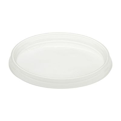 Dart 12CL Plastic Lids for Foam Cups / Containers Ending in 12, Non-Vented, Clear - 1000 / Case