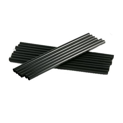 "Cardinal Straws 510732 7.75"" Plastic Giant Drinking Straws, Black - 1500 / Case"
