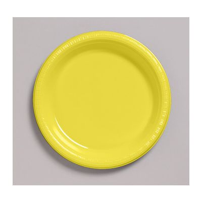 """Creative Converting 2810211 Touch of Color 7"""" Plastic Plates, Mimosa - 240 / Case"""