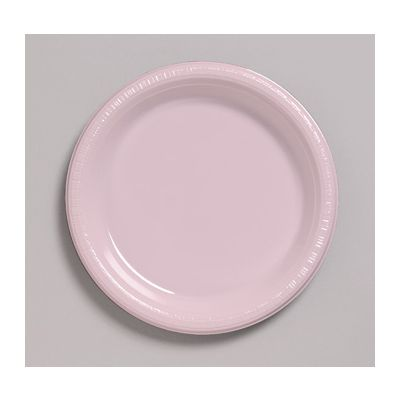 """Creative Converting 28158011 Touch of Color 7"""" Plastic Plates, Classic Pink - 240 / Case"""