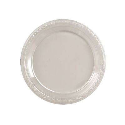 """Creative Converting 28114111 Touch of Color 7"""" Plastic Plates, Clear - 240 / Case"""
