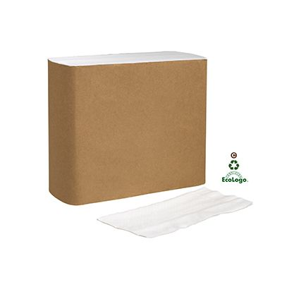 Essity N5181A Tork Universal Paper Dinner Napkins, 1 Ply, 1/8 Fold, White - 3000 / Case