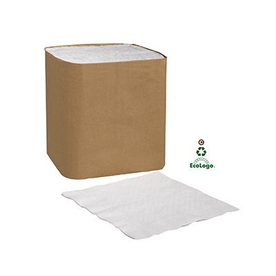 Essity N7141A Tork Universal Paper Dinner Napkins, 1 Ply, 1/4 Fold, White - 4008 / Case