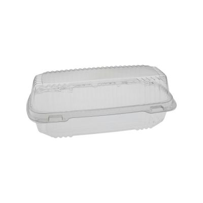 "Pactiv YCI81048 ClearView Plastic Hoagie Containers, 8.5"" x 4"" x 2.5"", Clear - 250 / Case"