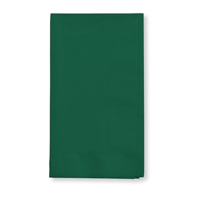 Creative Converting 673124B Touch of Color Paper Dinner Napkins, 2 Ply, 1/8 Fold, Hunter Green - 600 / Case
