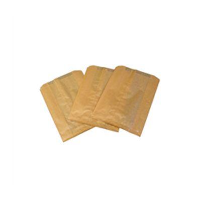 Hospeco 260 Feminine Hygiene Receptacle Liner Bags, Waxed Paper, Brown - 500 / Case