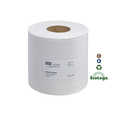 Essity 120932 Tork Advanced Center Pull Roll Paper Hand Towels, 2 Ply, 500 Sheets / Roll, White - 6 / Case