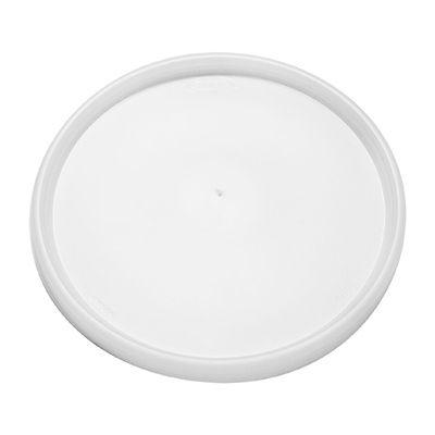 Dart 48JL Plastic Vented Lids for 24-32 oz Foam Containers, Translucent - 500 / Case
