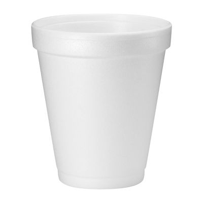 Dart 8J8 8 oz Foam Drink Cups, White - 1000 / Case