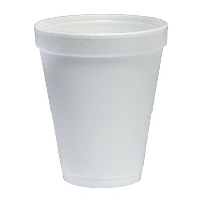 Dart 10J10 10 oz Foam Drink Cups, White - 1000 / Case