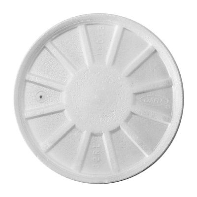 Dart 32RL Vented Foam Lids for Foam Cups / Containers Ending in 32, White - 500 / Case