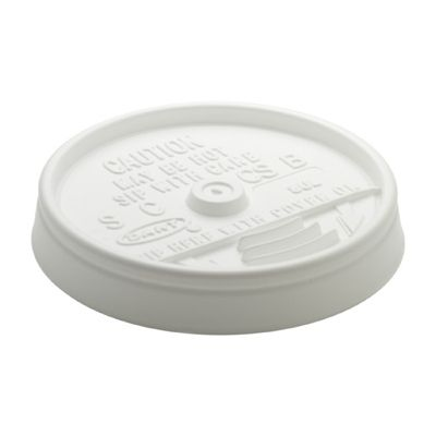 Dart 8UL Plastic Sip-Thru Lids for Foam Cups Ending in 8, White - 1000 / Case