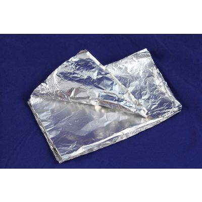 "Pactiv W71 Aluminum Foil Sheets in Pop Up Dispenser Box, 9"" x 10.75"" - 2400 / Case"
