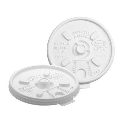 Dart 8FTL Lift N' Lock Plastic Lids for 8, 10 oz Foam Cups, White - 1000 / Case