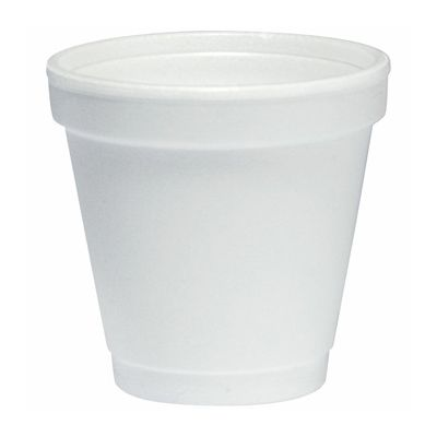 Dart 4J4 4 oz Foam Hot / Cold Cups, White - 1000 / Case