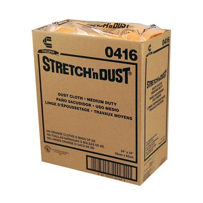 "Chicopee 416 Stretch n Dust 24"" Dusting Cloth, Yellow Orange - 100 / Case"