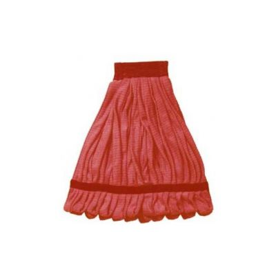 Continental A10202 Wet Mop Heads, Looped End Microfiber, Red - 12 / Case