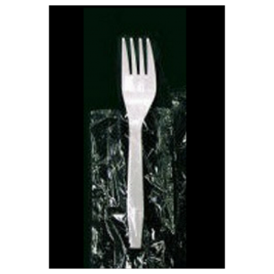 Vintage V178001 Wrapped Plastic Forks, Polypropylene, White - 1000 / Case