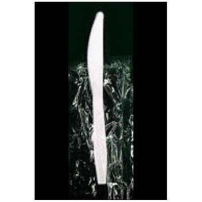 Vintage V178003 Wrapped Plastic Knives, Polypropylene, White - 1000 / Case