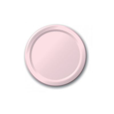 "Creative Converting 47158B Touch of Color 9"" Paper Plates, Classic Pink - 240 / Case"