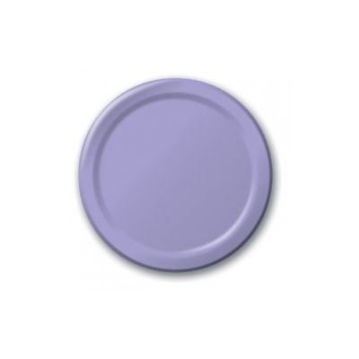 "Creative Converting 47193B Touch of Color 9"" Paper Plates, Luscious Lavender - 240 / Case"