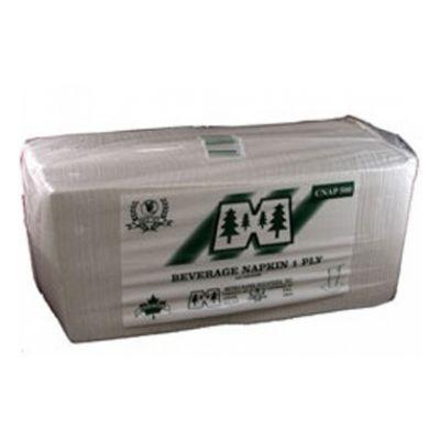 Metro CNAP08500 Paper Beverage Napkins, 1 Ply, 1/4 Fold, White - 4000 / Case