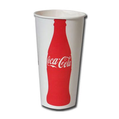 Dart Solo RS22N-1416 Coca-Cola 22 oz Waxed Paper Cold Cups - 1000 / Case