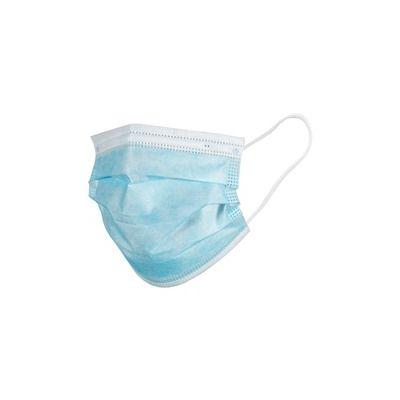 Advantus 39149 Disposable Face Mask, Blue / White - 50 / Case