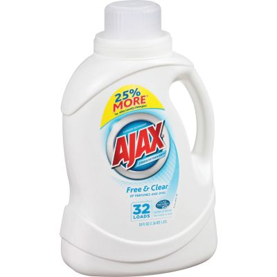 AJAX PB49551 Free & Clear Laundry Detergent Liquid, 1.47 Liter - 6 / Case